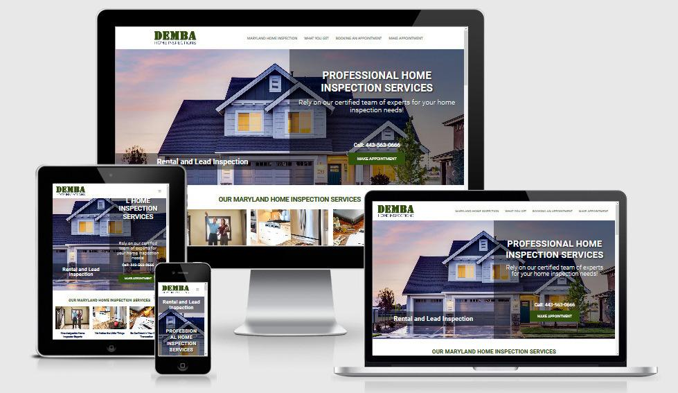 Demba Home inspection website design